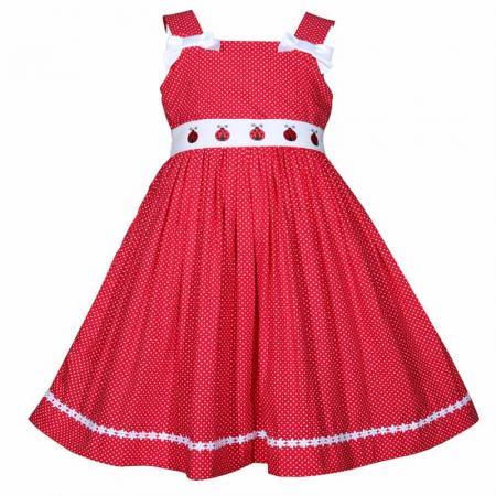 Red White Polka Dot Ladybug Dress