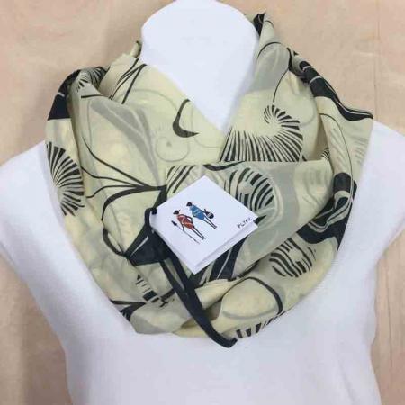 cream-safari-print-chiffon-infinity-scarf